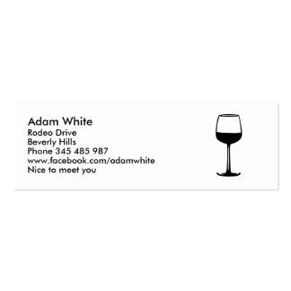 Copa de vino plantillas de tarjetas personales