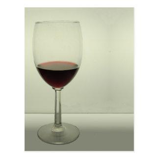 Copa de vino tarjeta postal