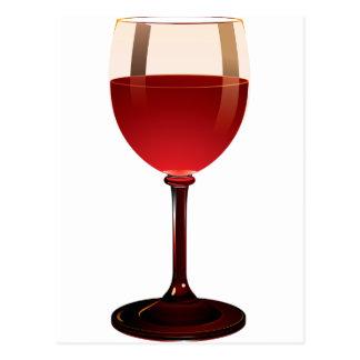 Copa de vino postal