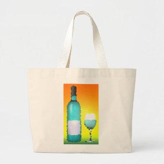 copa de vino y botella: vitral bolsas