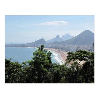 Copacabana Beach in Rio Postcard