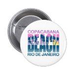 Copacabana Beach Pinback Button