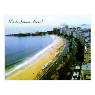 Copacabana Curve, Rio de Janeiro, Brazil. Postcard