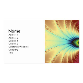 Copacabana Fractal Double-Sided Standard Business Cards (Pack Of 100)