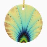 Copacabana Fractal Ceramic Ornament