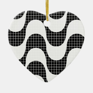 Copacabana waves ceramic ornament