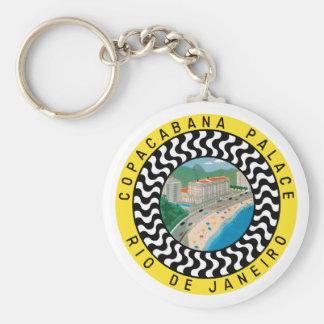 CopacabanaPalaceRio Basic Round Button Keychain