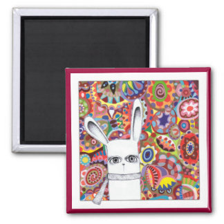 Copacetic Bunny 2 Inch Square Magnet