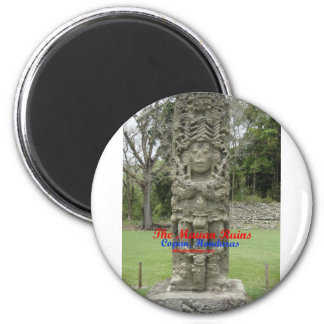 Copan Ruins Buttons and key chains 2 Inch Round Magnet