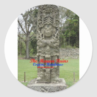 Copan Ruins Buttons and key chains Classic Round Sticker