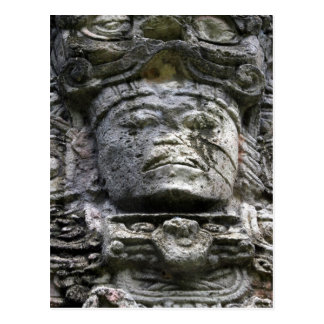 copán stone face postcard