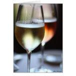 Copas de vino felicitacion