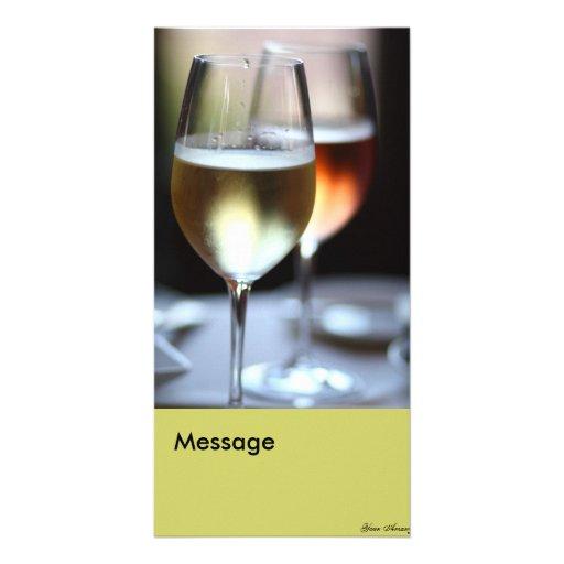 Copas de vino tarjetas fotograficas