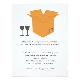 Copas de vino y invitación móvil del estreno de invitación 10,8 x 13,9 cm