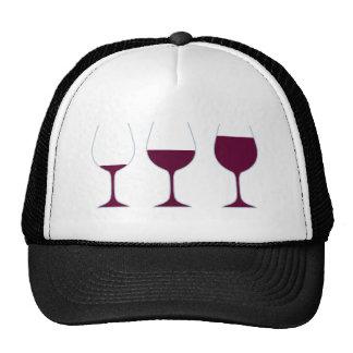 Copas vino de vidrios of glasses wine gorros bordados