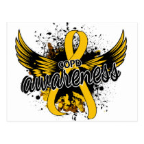 COPD Awareness 16 (Gold) Postcard