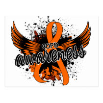 COPD Awareness 16 (Orange) Postcard