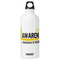 COPD Awareness 2 Aluminum Water Bottle