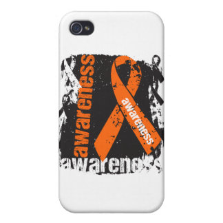 COPD Awareness Grunge Ribbon Case For iPhone 4