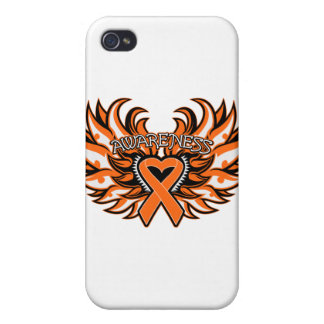 COPD Awareness Heart Wings Covers For iPhone 4