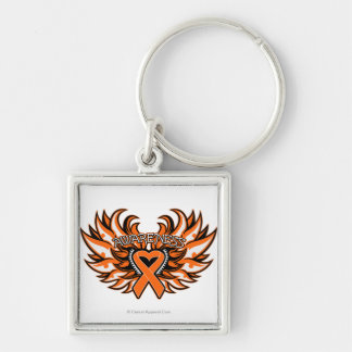 COPD Awareness Heart Wings Keychains