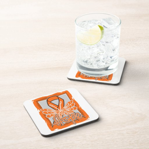 COPD Awareness Hope Butterfly Beverage Coasters