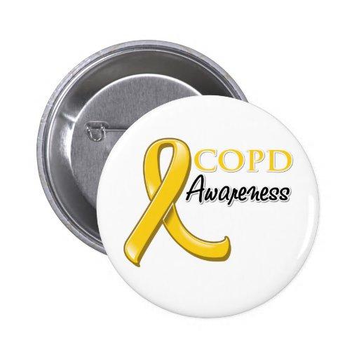 COPD Awareness Ribbon (gold ribbon) Button