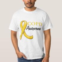 COPD Awareness Ribbon (gold ribbon) T-Shirt
