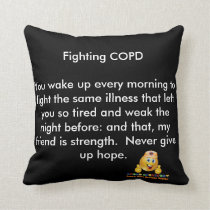 COPD AWARENESS THROW PILLOW