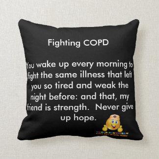 COPD AWARENESS THROW PILLOW
