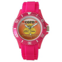COPD AWARENESS WATCH FOR A LADY