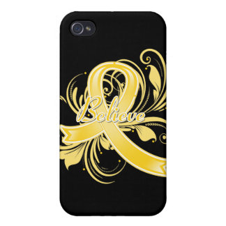 COPD Believe Flourish Ribbon iPhone 4/4S Cases