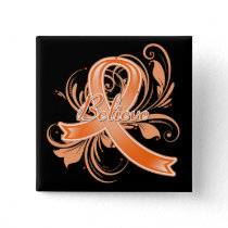 COPD Believe Flourish Ribbon v2 Pinback Button
