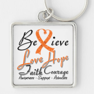 COPD Believe Heart Collage Key Chain