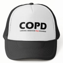 COPD - Chronic Obsessive Pug Disorder Trucker Hat