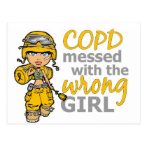 COPD Combat Girl 1 Postcard