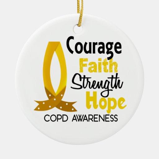 COPD Courage Faith 1 Christmas Tree Ornament