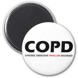 COPD - Desorden obsesivo crónico de Papillon Imán Redondo 5 Cm