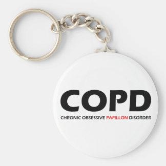 COPD - Desorden obsesivo crónico de Papillon Llavero Redondo Tipo Pin