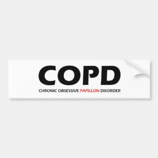 COPD - Desorden obsesivo crónico de Papillon Pegatina Para Auto