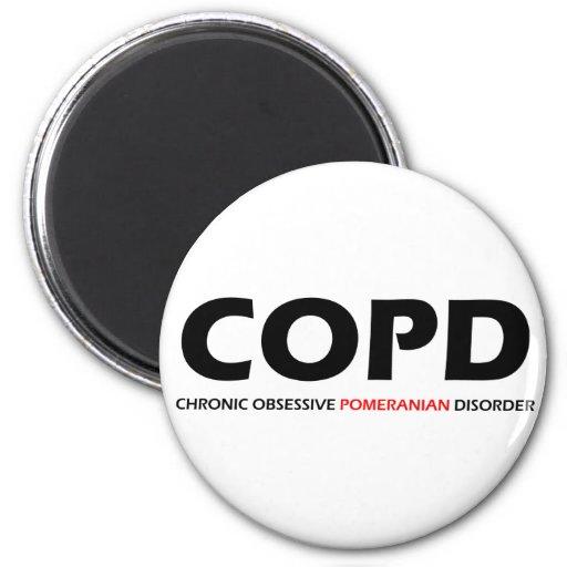 COPD - Desorden obsesivo crónico de Pomeranian Imán De Nevera