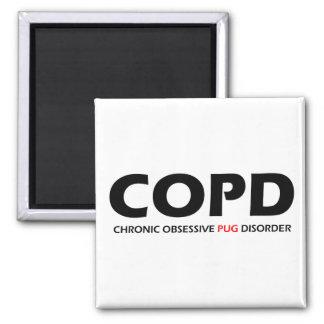 COPD - Desorden obsesivo crónico del barro amasado Imán Cuadrado