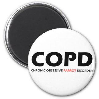 COPD - Desorden obsesivo crónico del loro Imán Redondo 5 Cm