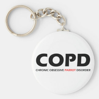 COPD - Desorden obsesivo crónico del loro Llavero Redondo Tipo Pin