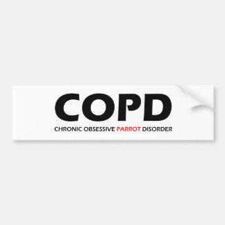 COPD - Desorden obsesivo crónico del loro Pegatina Para Auto