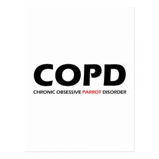 COPD - Desorden obsesivo crónico del loro Tarjeta Postal