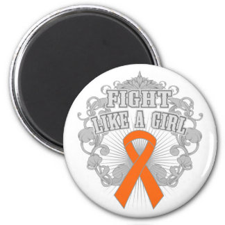 COPD Fight Like A Girl Fleurish 2 2 Inch Round Magnet