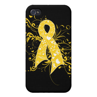 COPD Floral Swirls Ribbon Cover For iPhone 4