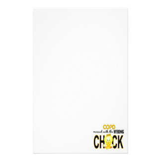 COPD (Gold) Messed With Wrong Chick Stationery