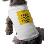 COPD guardan calma y luchan en v2 Ropa De Mascota